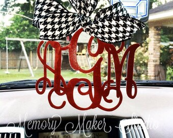 Rear view mirror charm, Rearview mirror Monogram, Rearview mirror accessories, Rearview mirror accessories, rearview mirror letters