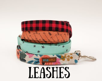 Handmade Dog Leash, dog lead. Choose your fabric, length and width!