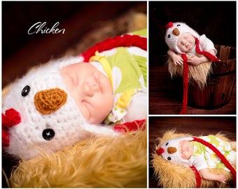 Infant Crotchet Chicken Hat