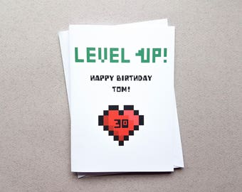 Gamer birthday card geeky birthday card youre not personalised level up birthday card level up gaming card gamer birthday card bookmarktalkfo Images