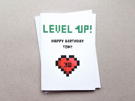 Personalised level up birthday card level up gaming card like this item bookmarktalkfo Gallery