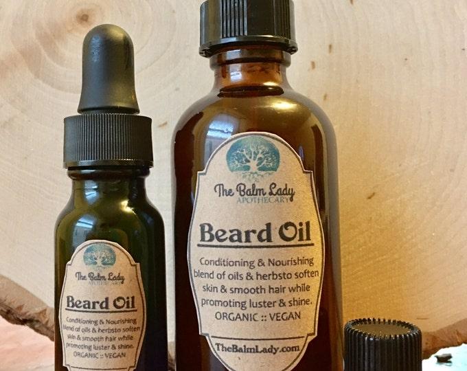 Beard Oil Conditioning, Moisturizing, Leave In Oil for Mustache, Beard, Hair. Herbal, Organic Aromatic Effective Skin Nourishing
