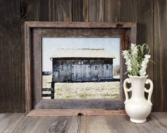 Barn No. 2 Watercolor Art Print, Midwest Barn, Farmhouse Wall Decor, Modern Farmhouse