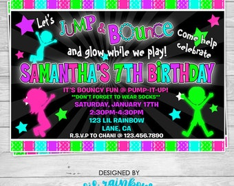 798: DIY - Glow In The Dark 5 Party Invitation Or Thank You Card