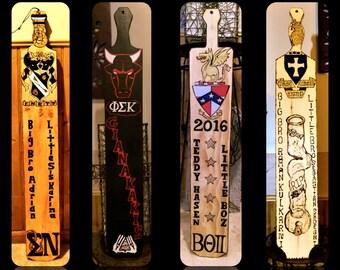 frat paddles - Greek paddle - custom fraternity paddles -  fraternity paddles -  big brother gift - sorority paddles, bis sister gift