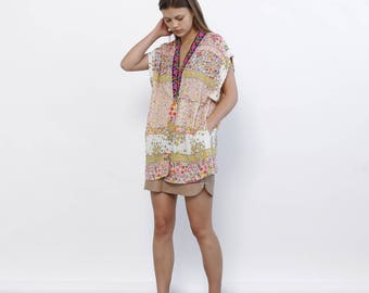 Black lace Kimono Robe, Kimono Top,Multicolour Kimono Robe - Holidays Sale 50% off