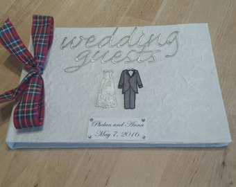 Personalized Tartan Wedding Guest Book