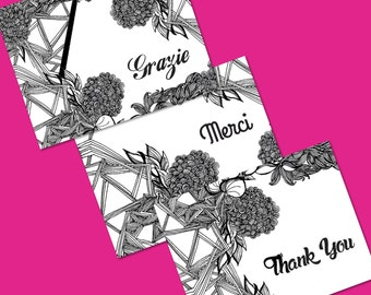 thank you cards_international set