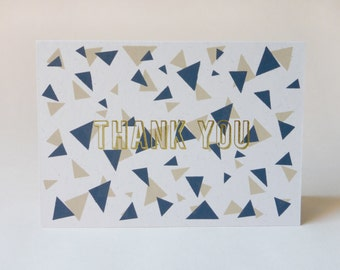 Thank You Card - Screen Printed Foil Blocked Greetings Card