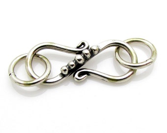 1 Set, 17mm, Sterling Silver Clasp