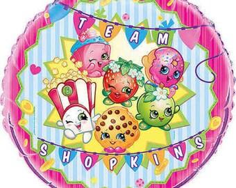 "2 Pcs/Set Shopkins Balloon 18"" Birthday Party Decorations"