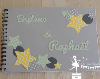 ON order-guestbook classic Star yellow mint green grey
