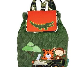 Quilted Stephen Joseph Backpack/ Preschool Backpack/ FREE MONOGRAM