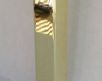 "Metal Furniture Leg Sofa Cabinet Leg, 7""H, Brass Finish (Gold), DIY Modern, Unique, Affordable 4PC"