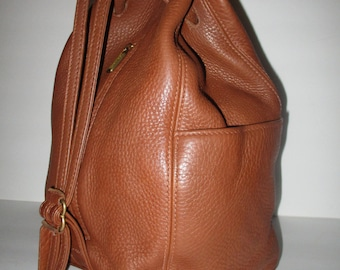 C O A C H Vintage Coach Sonoma British Tan Leather Sholuder Backpack Bag. ID  # D6E-4922 Made in Italy.Rare