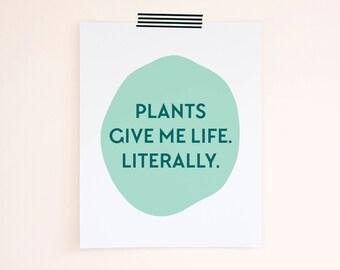 Plant Prints. Funny Plant Art. Botanical Art. Modern Wall Art. Nature Print. Gift for Her Under 20. Home Decor. Wall Art. Funny Art Print
