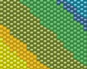 Peyote Bracelet Beading Pattern Rainbow