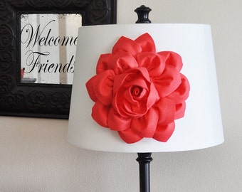 Coral Dahlia Lamp Shade Flower Magnetic Accessory -Decorative Lighting-