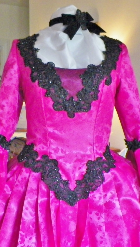 Marie Antoinette Dress, Ball Dress, Venice Costume, Mardi Gras Costume, Panniers Dress, Wedding Dress, Marie Antoinette Costume, Pink Dress