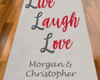 Personalized Live Laugh Love Aisle Runner (MIC-A1225)