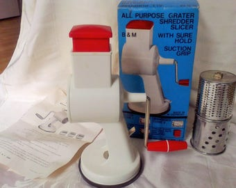 Food chopper,.Home canning, food processer,Grater, shredder, slicer, made in West Germany