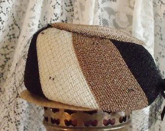Vintage Pill Box vintage ladies Chic Visored chapeau dress hat