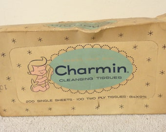 Vintage Charmin Facial Bathroom Tissues 1956 1950's Movie Prop Rare