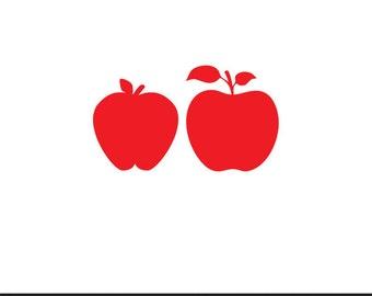 apple fruit stencil svg dxf file instant download silhouette cameo cricut downloads clip art