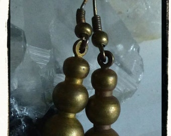 Got Brass? Earrings Created with Vintage Brass Drops on Antiqued Bronze Findings
