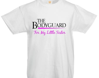 The Bodyguard For My Little Sister Family Big Brother Movie Karate Kids T shirt
