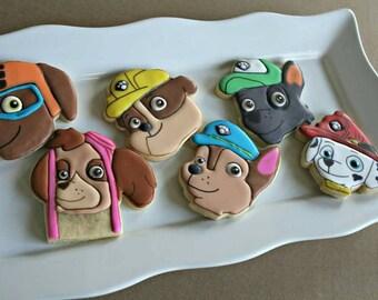 Paw Patrol Cookies-Paw Patrol Decorated Sugar Cookies