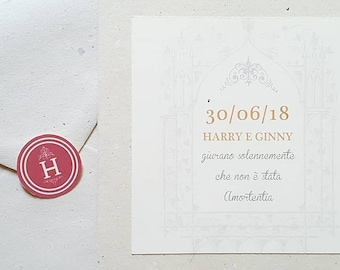 Harry Potter Style Invitations