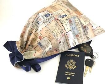 Shoe Bag, Travel Shoe Bag, Drawstring Shoe Bag,  Shoe Storage, Shoe Tote Bag, Travel Accessories, Travel Bag,  Travel Gift