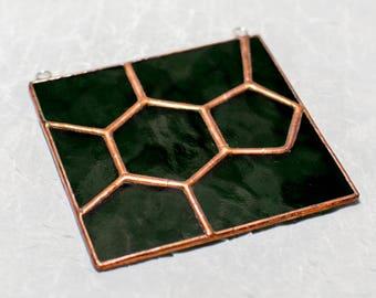 Caffeine Green Stained Glass Suncatcher