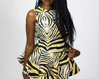 Zebra Print Peplum