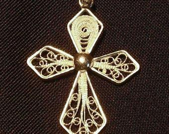 Gold Christian cross pendant
