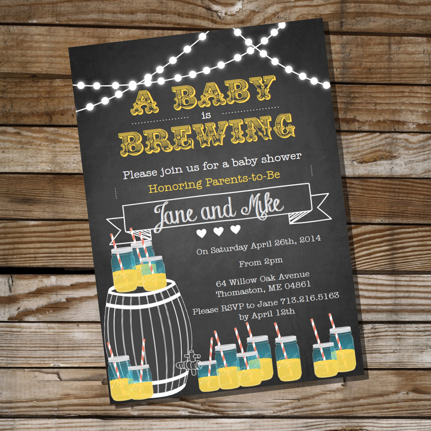 Baby Is Brewing Baby Shower For A Boy Or Girl Bbq Invitation
