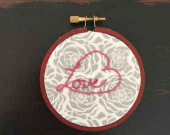 """3"""" Embroidery: HeartFull of Love (Pink&Red)"""