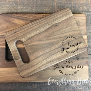 Cutting Board, Personalized Cutting Board, Custom Cutting Board, Couple Cutting Board, Wood Cutting Board, Monogram Cutting Board, Wedding