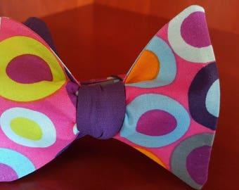 Multi-Color Polka Dot Designer 2 -in- 1 Freestyle BowTieByEDJ