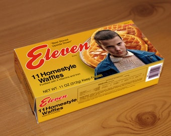 Stranger Things, Eggo box, Party Favor, Cosplay, Digital Download