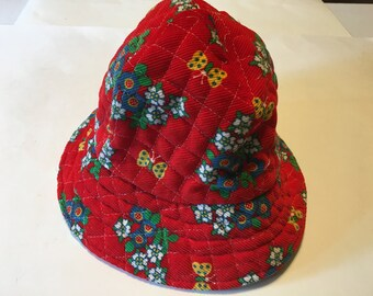 Vintage Girl's Corduroy hat