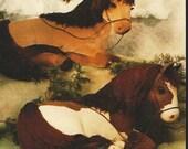 BIE Originals Sewing Pattern 117 Majestic Beauties Realistic Horse Pattern Lying Down Horses UnCut