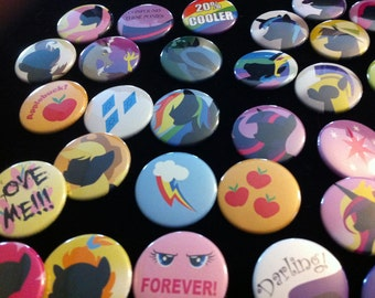 My Little Pony Buttons (FIM)Friendship is Magic Pinback Buttons