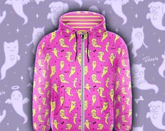 """Pink """"Lil' Ghosties"""" Zipper Hoodie"""