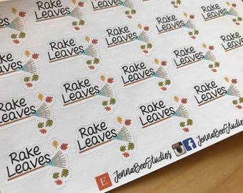Rake Leaves Sheet of Planner Stickers - Erin Condren Plum Paper Recollections Happy Planner Kikki K Personal Planner 124