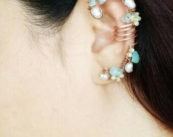 Bohemian Ear Cuff - Non Pierced Ear Cuff - Non Piercing Earrings - Ear Cuff Earrings - Statement Earring Cuff - Ear Cuff Non Pierced