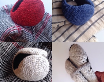 Grey earmuffs, blue cozy earmuffs, fluffy earmuffs, gifts for him, gifts for her, winter and snow  accessories, made in spain, ready to ship