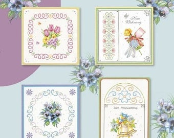 Book 8 cards designs 3D embroidery 20 sheets