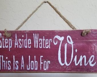 Superhero Wine Sign